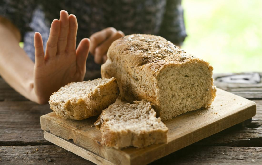 person refusing wholegrain bread