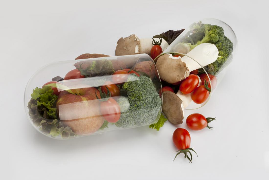 Vegetables in a vitamin pill