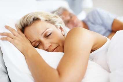 Adults sleeping