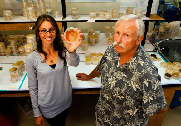 Lauren Paul and William Fenical from Scripps Institution of Oceanography