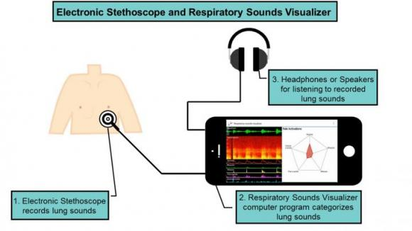 [Electronic Stethoscope and Respiratory Sounds Visualizer