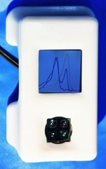 Image of handheld device that can detect Ebola RNA