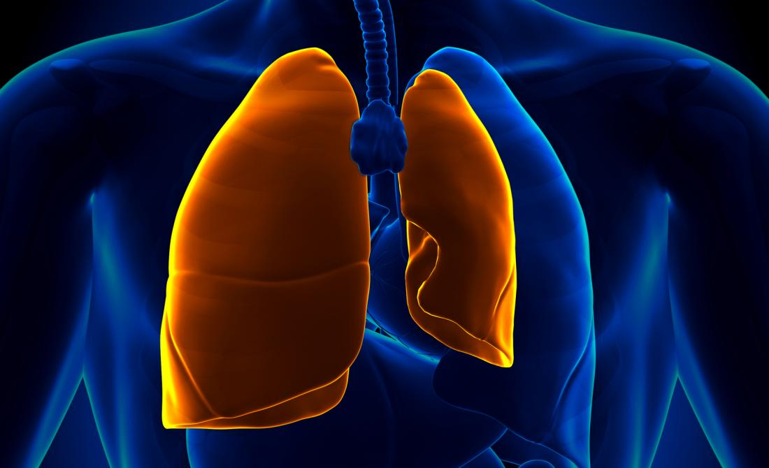 illustration of a collapsed lung