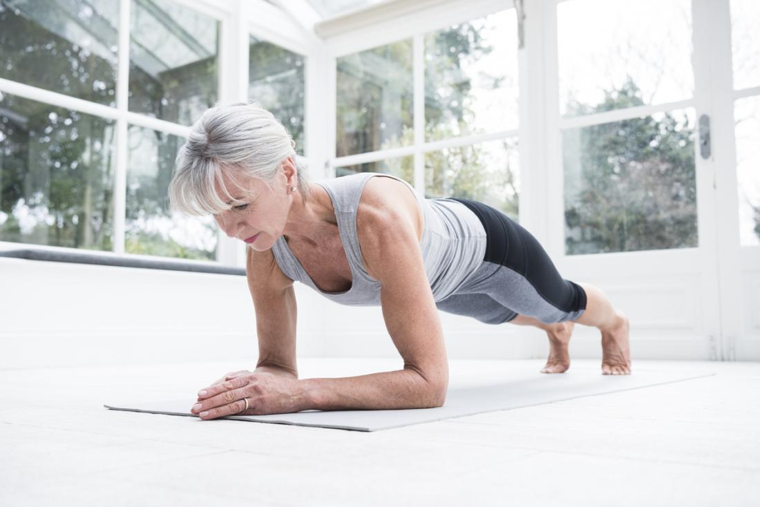 Older women bent over
