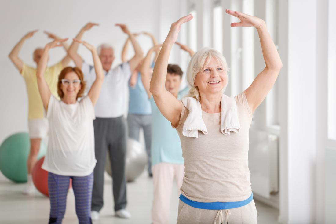 seniors in a dance group