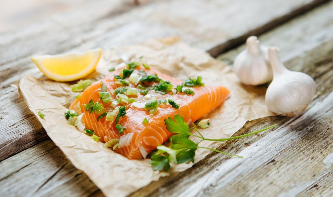 Gewichtszunahme Lebensmittel Lachs