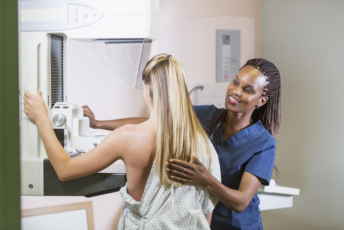 Mammograms can test for any lumps for women with breast asymmetry