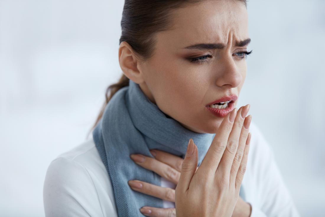 Woman with cough wondering if it's caused by asthma or bronchitis