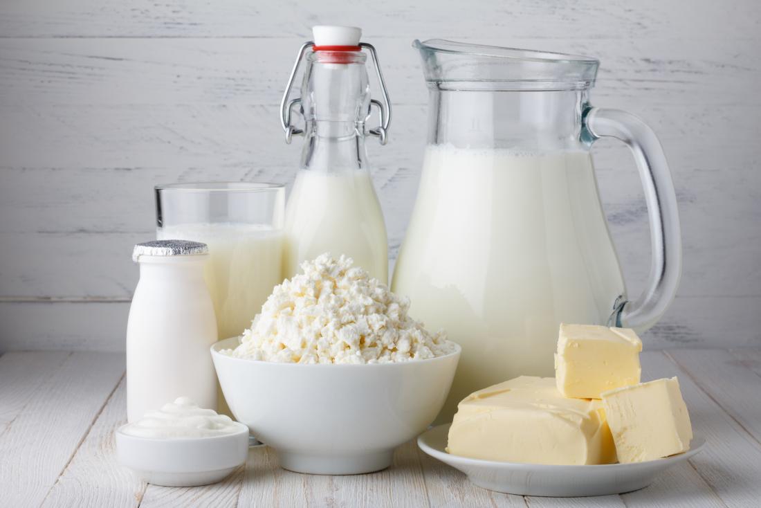 Các sản phẩm sữa khác nhau