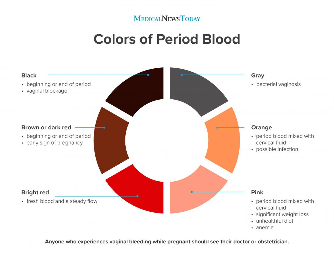 Colors of period blood infographic <br>Stephen Kelly, 2019</br>