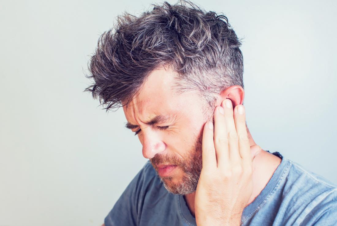 نتيجة بحث الصور عن Man + ear infection
