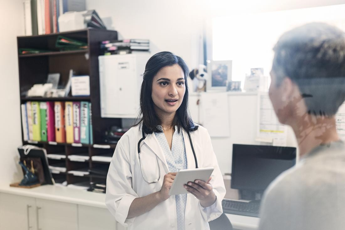 A doctor can discuss potential treatments for medical conditions causing breast calcification.