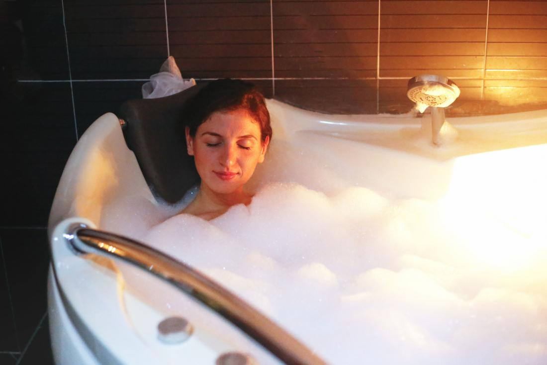 When's the best time to take a warm bath for better sleep?