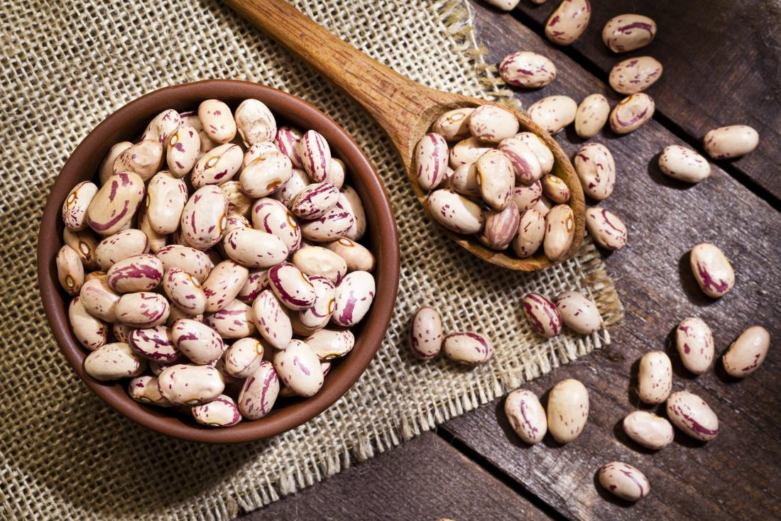 a bowl of Pinto beans