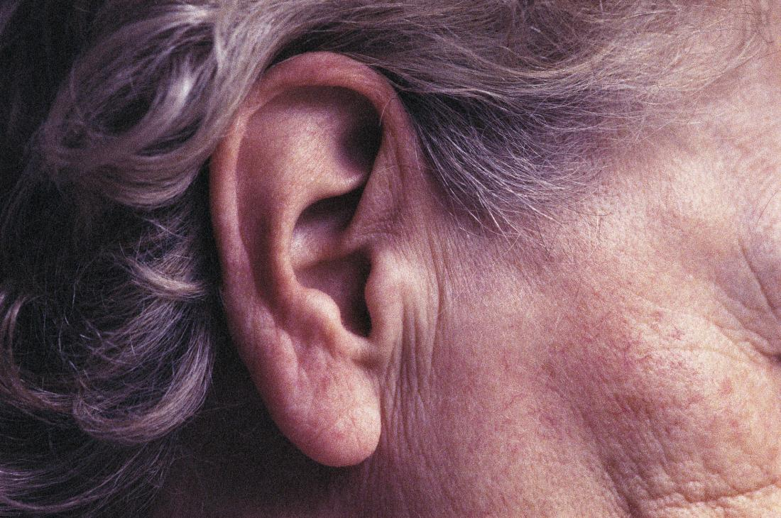 image of an older persons ear