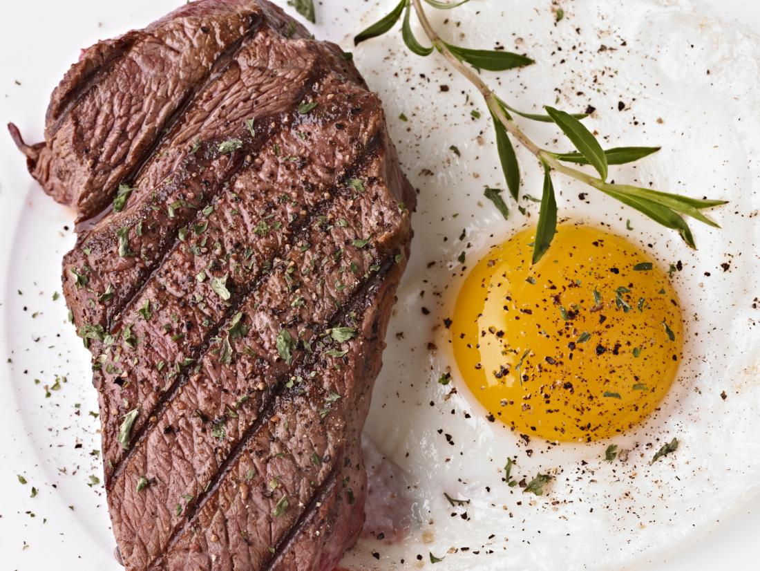 Steak and egg
