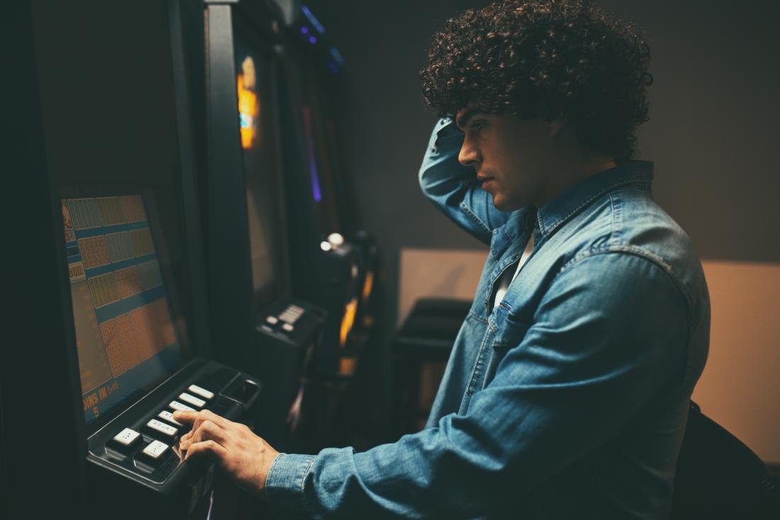 person gambling