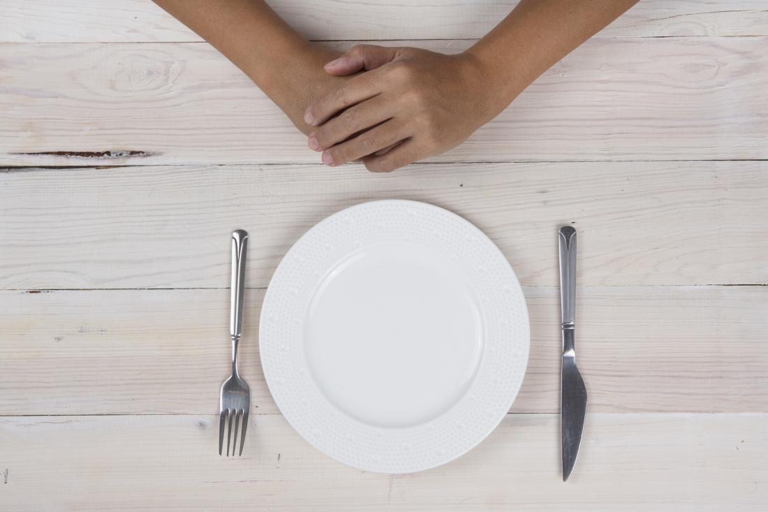 close up of empty plate with hands