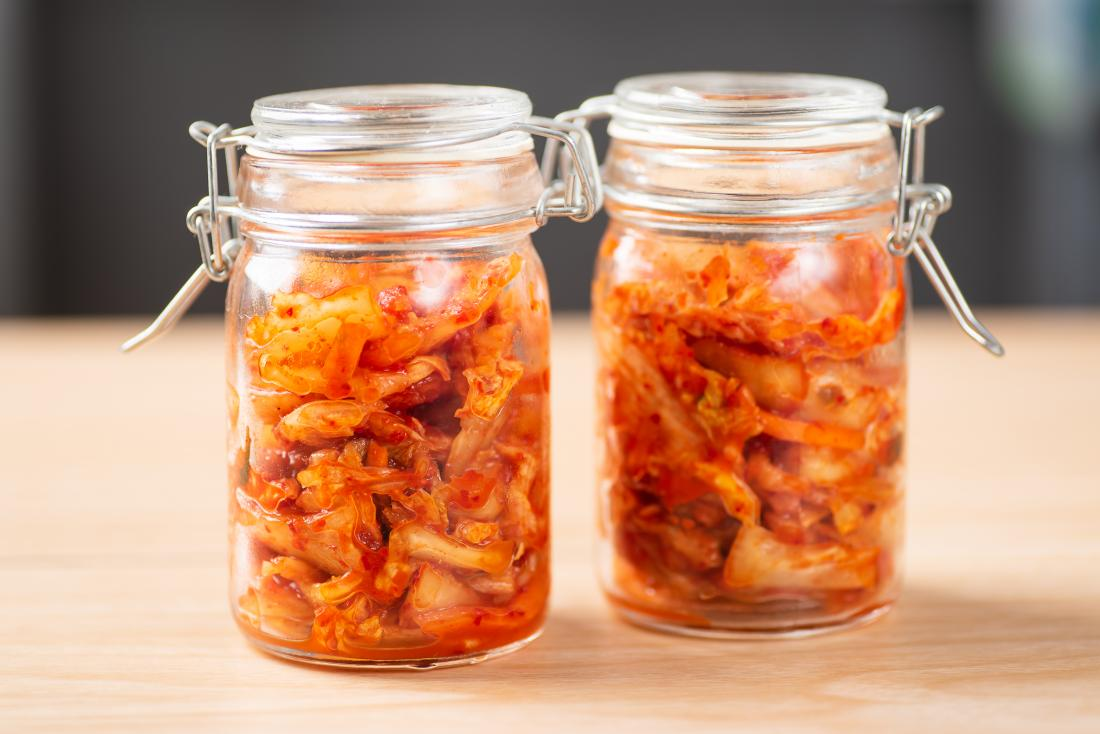 two jars of kimchi