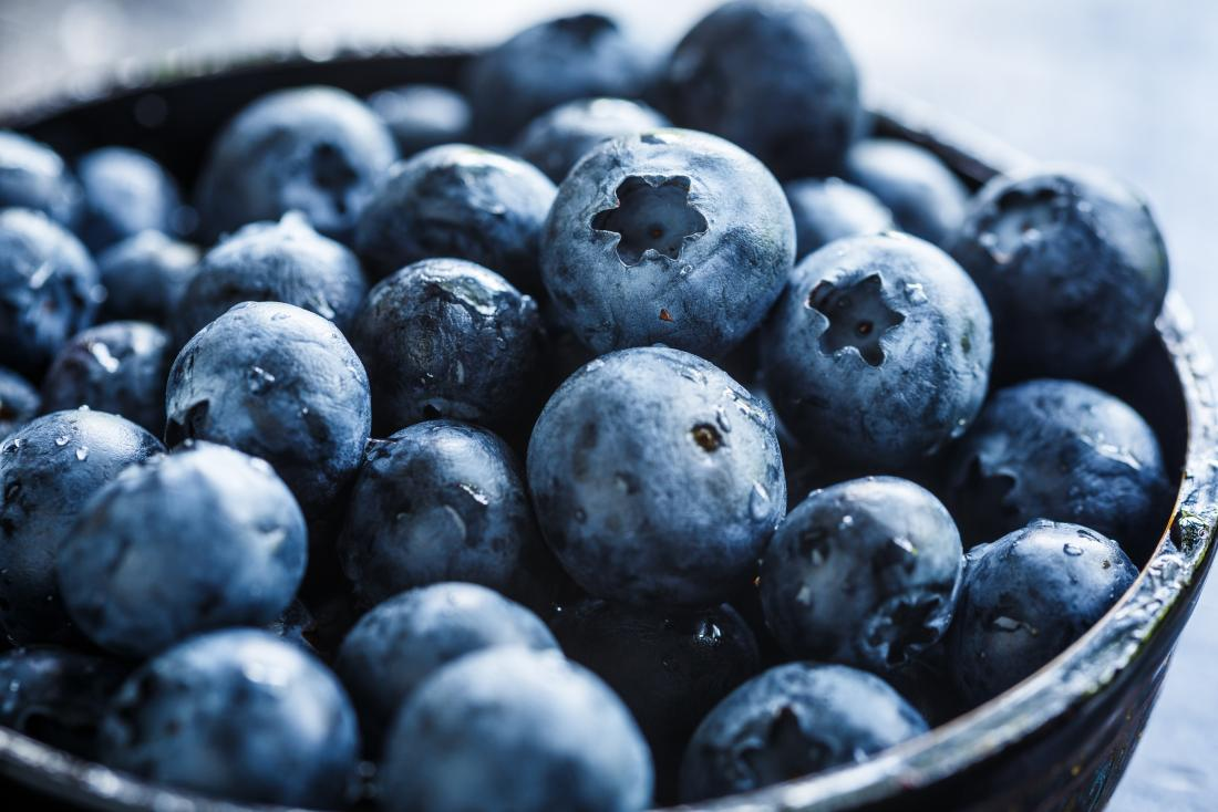 a bowl of blueberries as part of the cystic fibrosis t