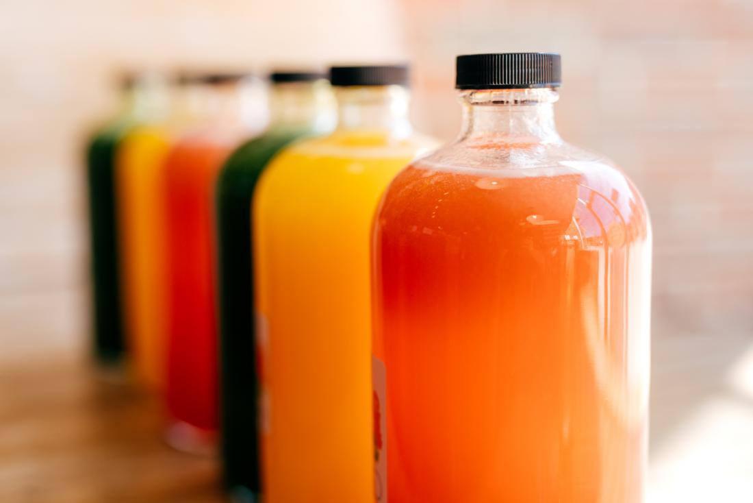 bottles of fruit juice