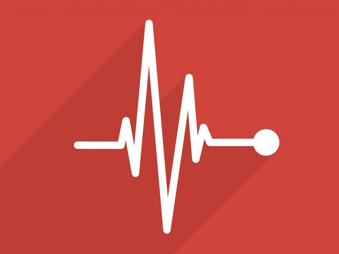 Corazón latiendo la presión arterial normal